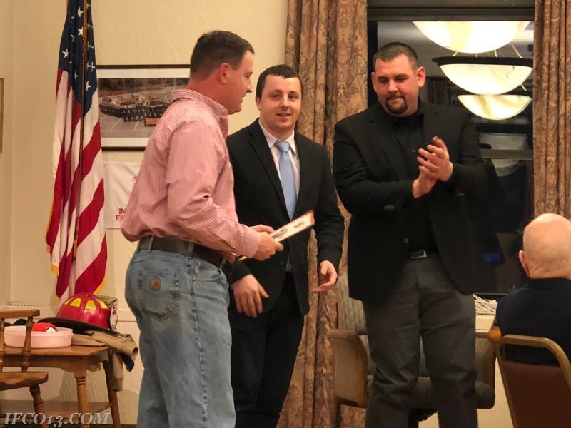 Jon Pucila presents 2nd Lieutenant credentials to Manny Acuna  Photo Credit Mark Jackson