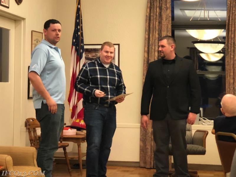 Matt Pucila presents Engineer 106 credentials to Drew Burns  Photo Credit Mark Jackson