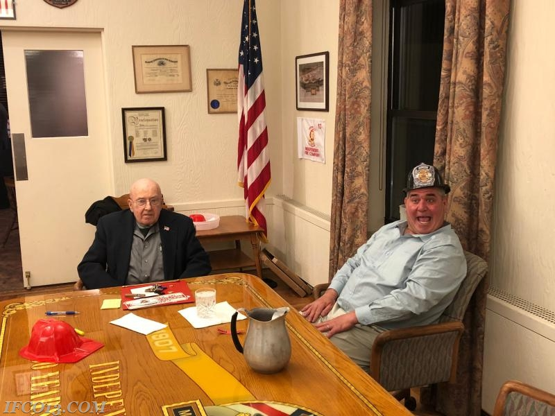 Ex-Chief Pete Hughes and 1st Assistant Chief David Hughes  Photo Credit Mark Jackson