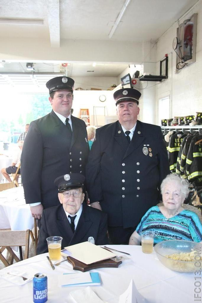 George, Jackie, Daniel and George Jr.  3 Generations of firefighters